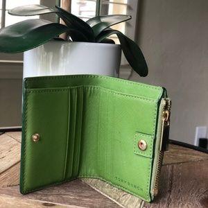 Tory Burch Bags - Tory Burch Robinson Green Mini Wallet